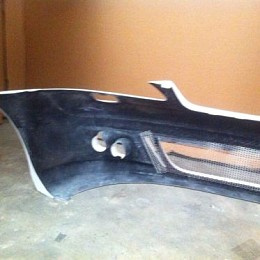 Image of a Jeep Wrangler Mercedes Benz 06 S Class W221 BB Style Front Bumper Bar Body kit