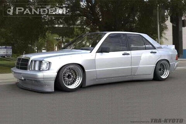 Picture of a Mercedes Benz W201 190E Rocket Bunny Pandem Style Full Kit